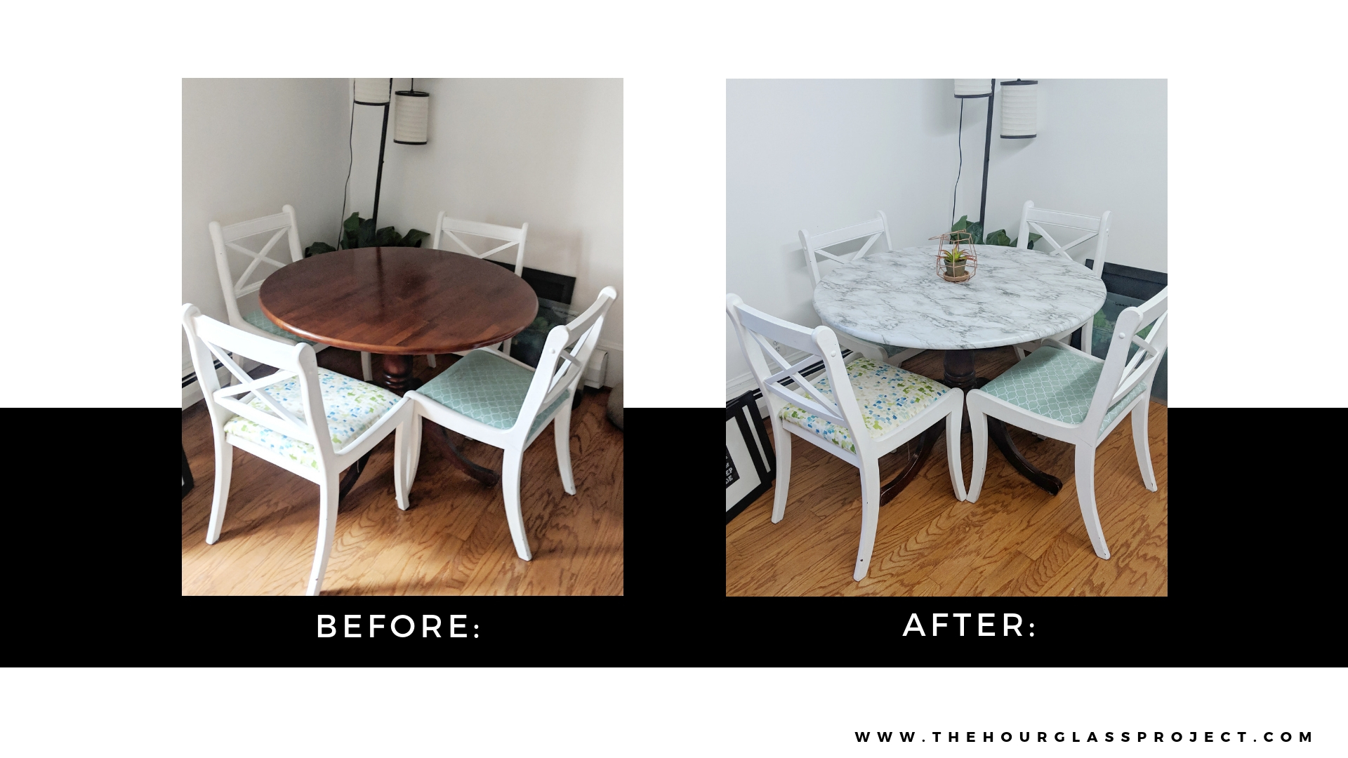 Quick Diy Faux Marble Table Top Tutorial The Hourglass Project